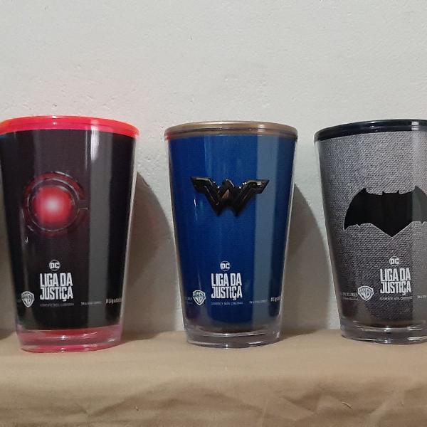 KIT de copos Cinemark Liga da Justiça