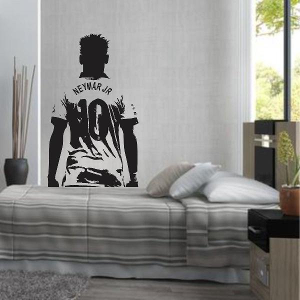adesivo de parede neymar njr 10 futebol