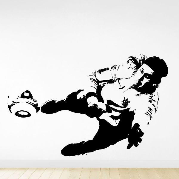 adesivo decorativo goleiro cassio corinthians timao futebol