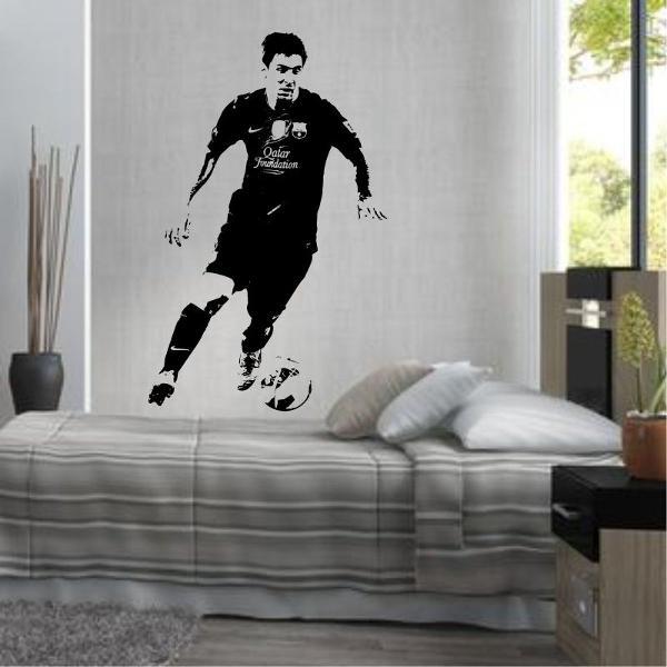 adesivo decorativo lionel messi barcelona futebol