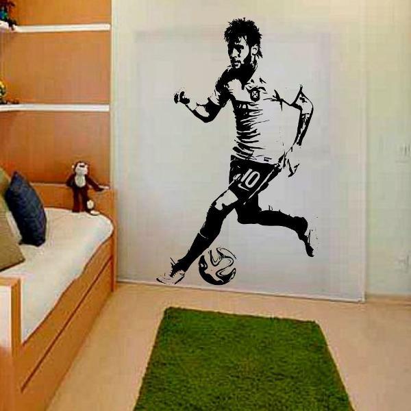 adesivo decorativo njr neymar futebol