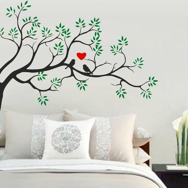 arvore adesiva para decorar parede quarto e sala com casal