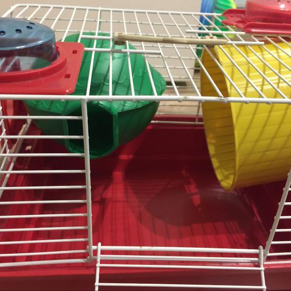 gaiola hamster com tubos