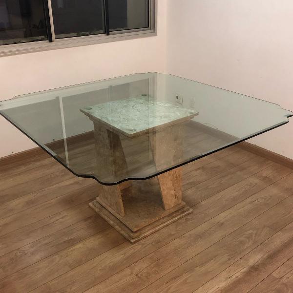mesa linda com mármore com preço para família!