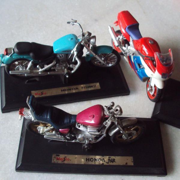 miniatura de motos honda e yamaha