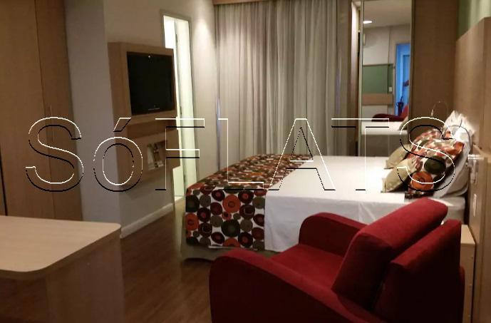 Flat com 1 Quarto para Alugar, 27 m² por R$ 2.999/Mês COD.