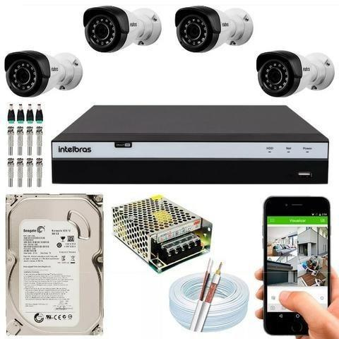 Kit Intelbras 4 Câmeras 3x s/ Juros (3x)
