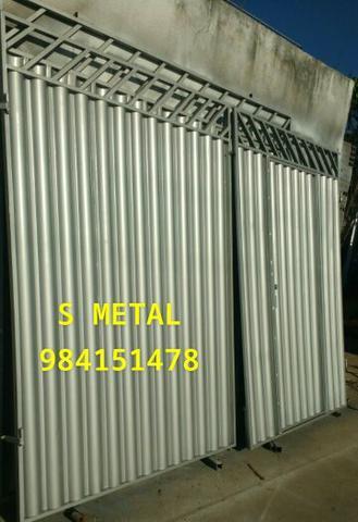 Portões de duas bandas galvanizado