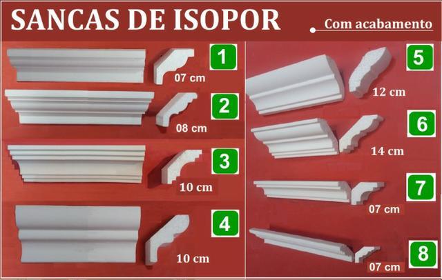 Sancas de isopor roda teto construções spot led imita
