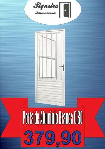 Super Promoção !!!! - Porta De Aluminio Branco Linha 25