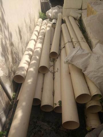 Vendo lote de canos e coneccoes de 150 mm