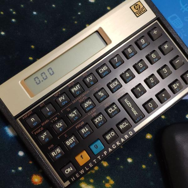Calculadora financeira HP 12C Gold