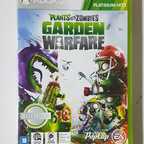 jogo Plants vs Zombies original para Xbox 360