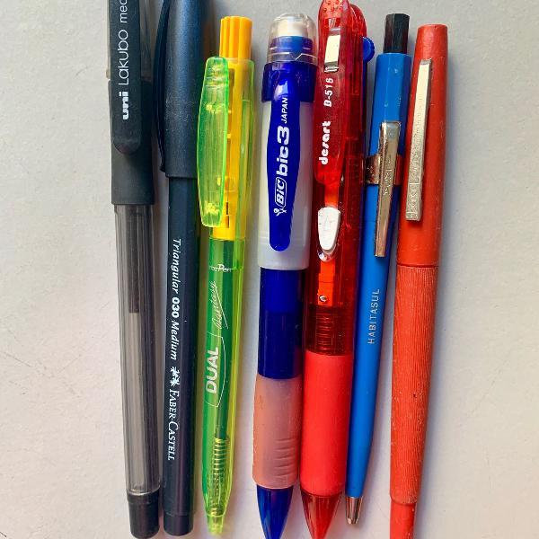 lote de 7 canetas antigas colecionador