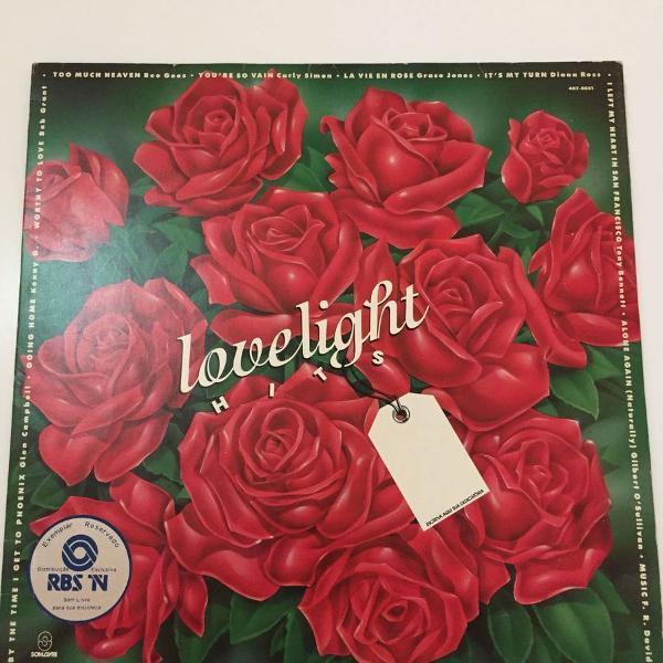 lp love light hits - coletânea - vinil 1991