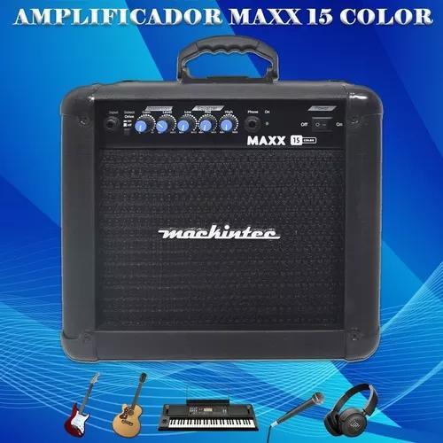 Cubo Amplificador Para Violão Guitarra Mackintec Preta