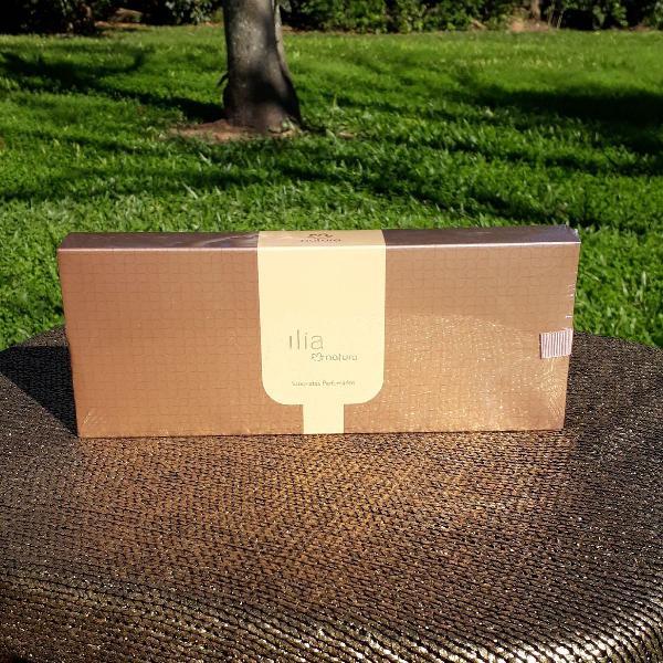 caixa lacrada sabonete perfumado ilia natura