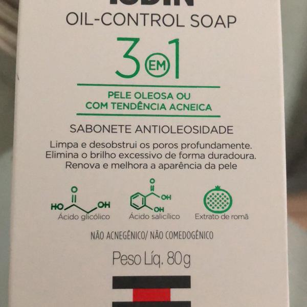 sabonete barra oil-control isdin