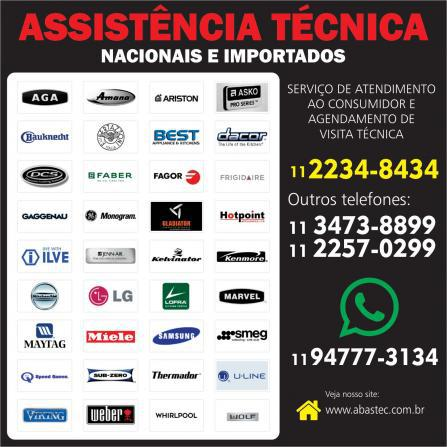 Assistência São Paulo eletrodomésticos nacionais e