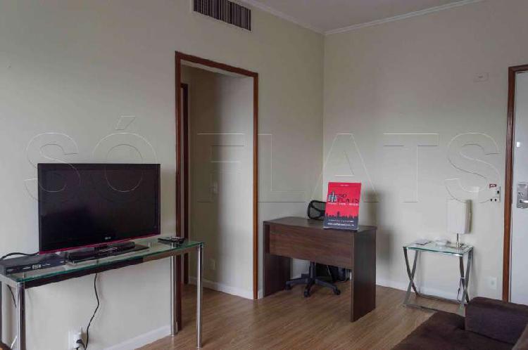 Flat com 1 Quarto para Alugar, 48 m² por R$ 2.654/Mês COD.