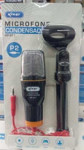 Microfone Condensador de Mesa Com Suporte Tripe Para