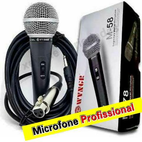Microfone Profissional Com Cabo M 58