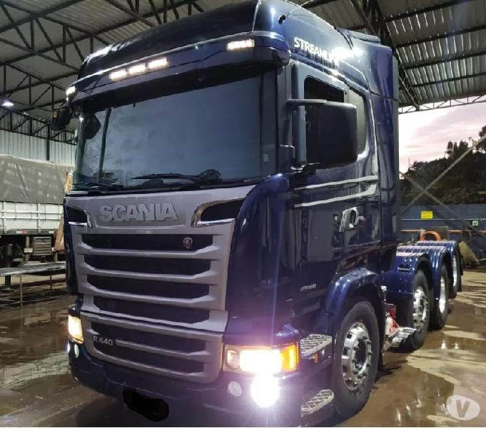 Scania R 440 Streamline 8x2 Ano 2014 Top Impecável Zero !!!