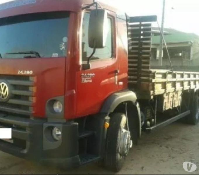 VW 24280 6x2 truck 12 carroceria completo