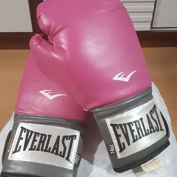 Luva Boxe - Rosa com Cinza - Everlast