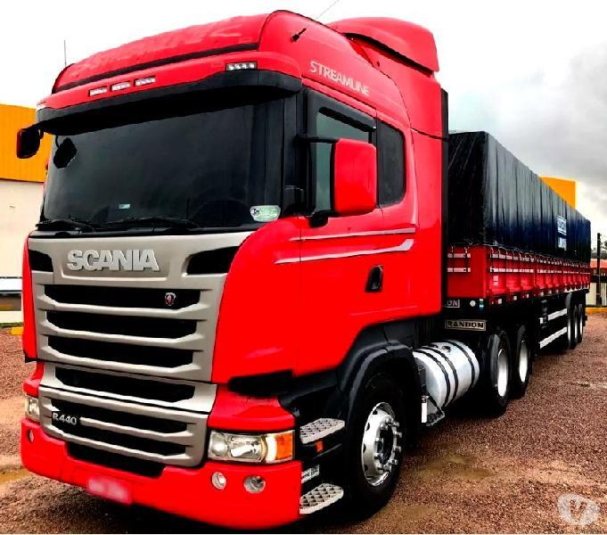 Scania R 440 6X2 Streamline Teto Alto Ano 15 + Graneleiro Ls