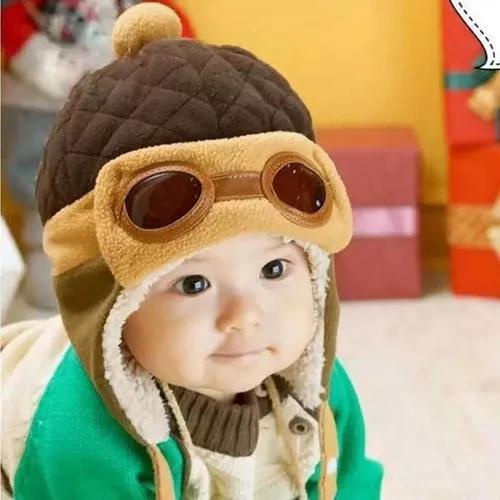 Touca Aviador Criança Inverno, Para Bebês 6 Meses Até 4