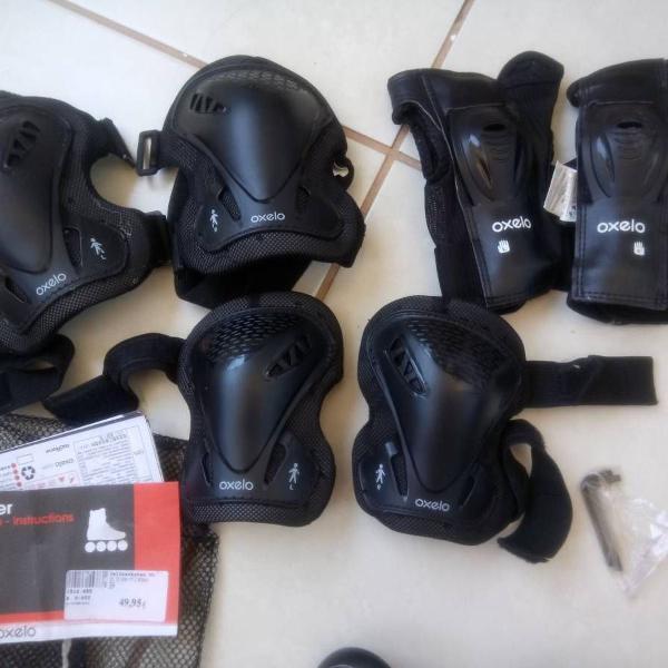 oxelo - kit de proteção para patinação