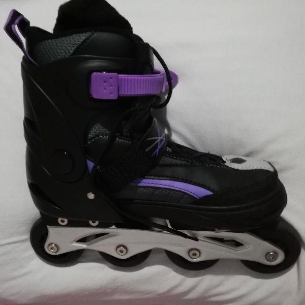 roller/patins regulavel serve do 38 ao 42