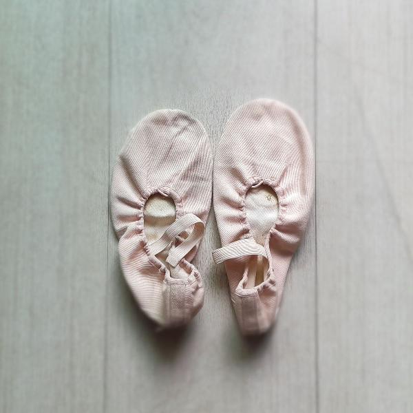 sapatilha de ballet rosa (lona)