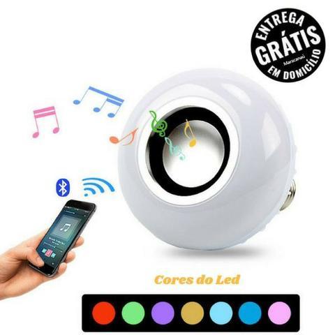 Lampada de Musica Bluetooth - Led RGB Music - Caixa De Som
