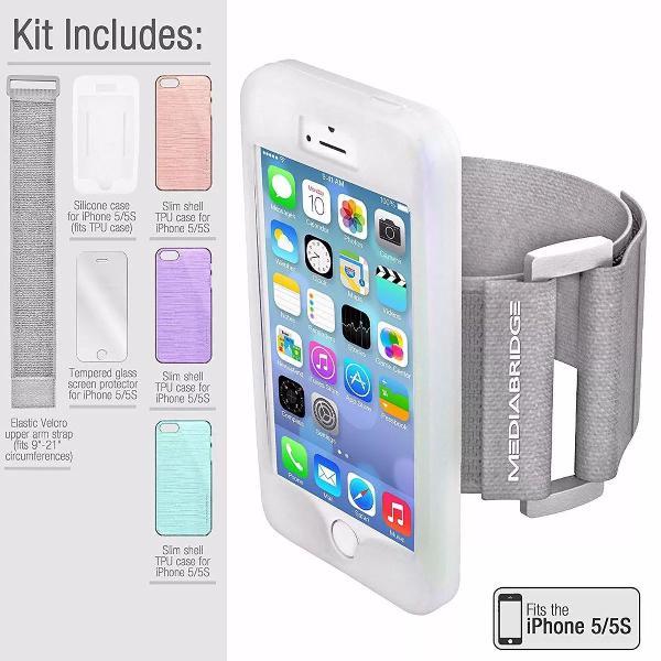 braçadeira armband para iphone 5 5s da mediabridge com