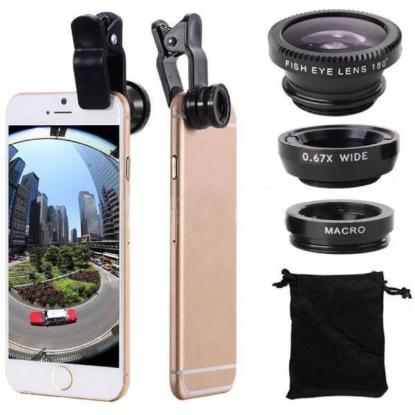 kit de lentes universais para celular