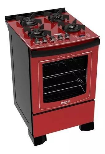 Fogão 4 Bocas Dako Acendimento Automático Glass Grill Dp4v