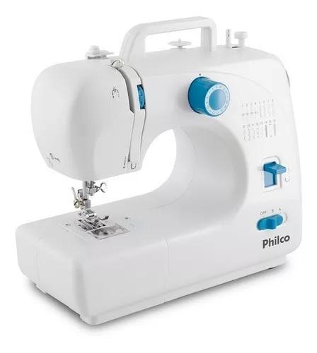 Maquina De Costura Philco Portátil Pmc16bp Branca - Bivolt