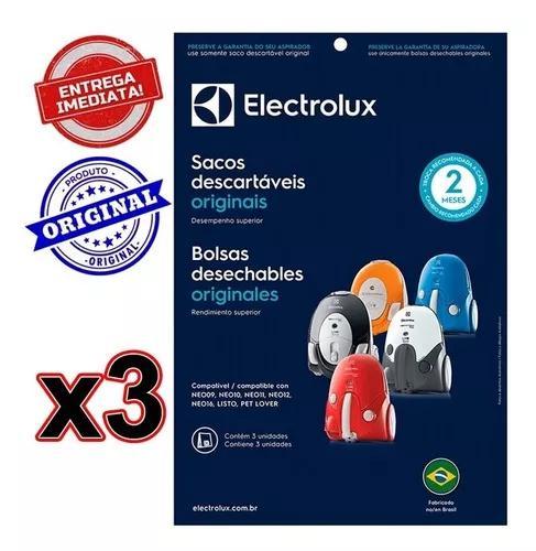 Sacos Desc, Aspirador Pó Electrolux Neo/listo Kit C/9 Sacos