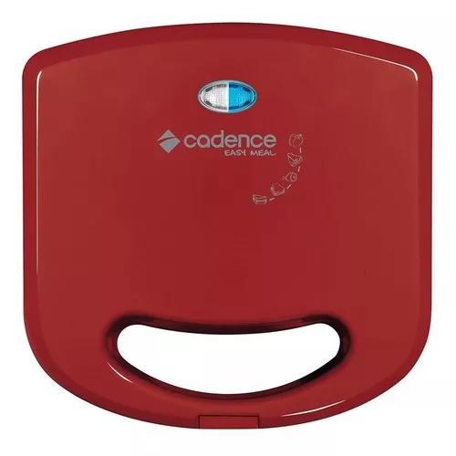 Sanduicheira Mini Grill Cadence San231 750w Colors Vermelha