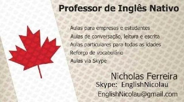 Aulas de inglês online com nativo