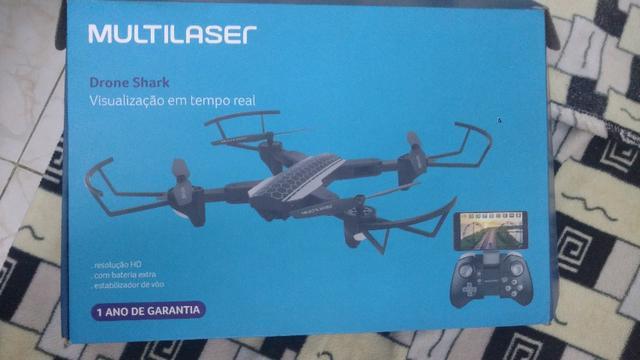 Drone Shark C/ Câmera Hd, Wi-fi E Controle C/ Suporte P/
