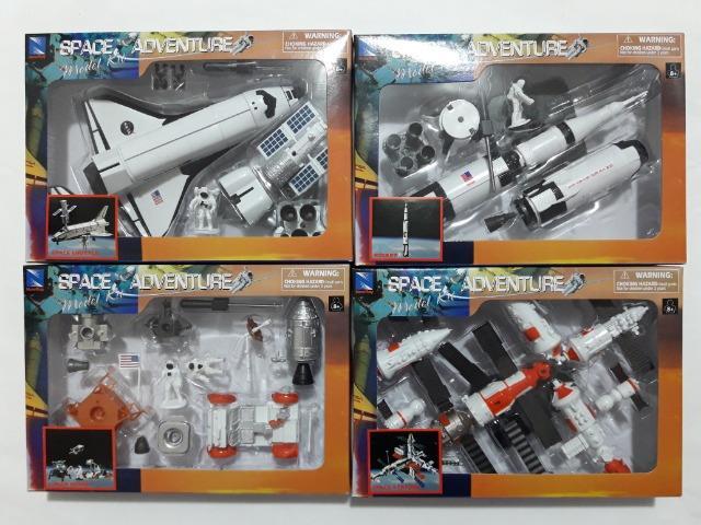 Kits De Montar Space Adventure Coleção Completa 4 Kits -