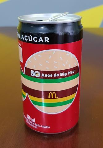 Lata Coca Cola 50 anos Big Mac