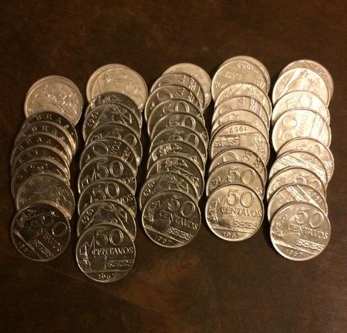 Moedas de 50 centavos -