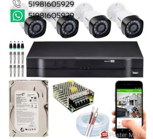 Kit De Câmeras De Segurança Com Instalação