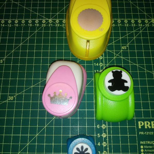 Kit / lote de 4 furadores / cortadores de papel