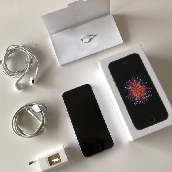 iphone se 16gb - nota, caixa e acessórios originais.