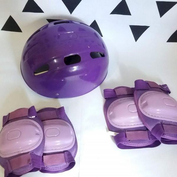 kit de proteção patins